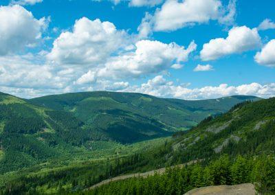 Panorama ze szczytu Ścieżki w obłokach